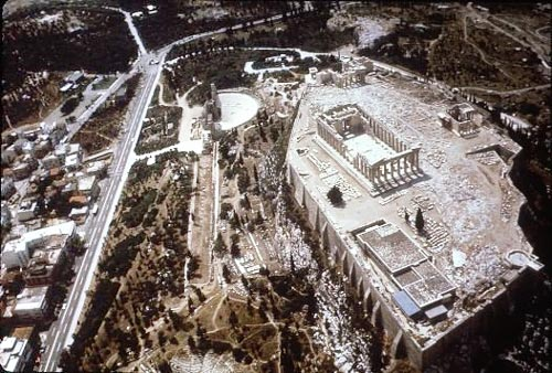 Acropolis: Aerial view from SE